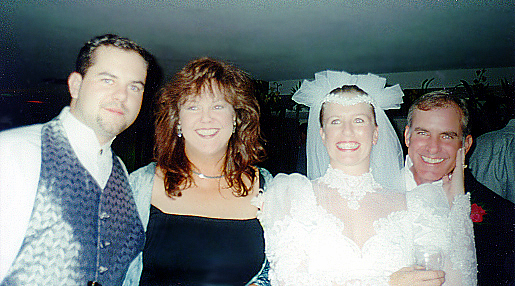 Michael, Victoria, Tracy, and Michael, Sr. at the wedding